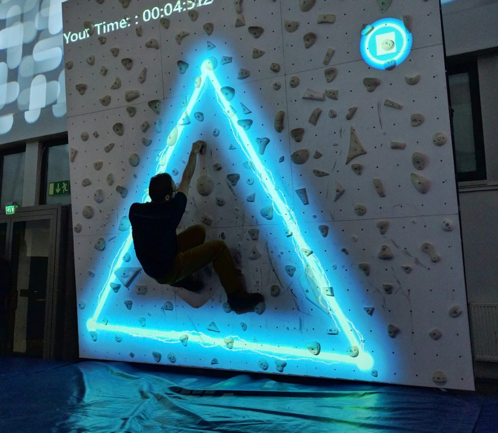 Augmented climbing wall supercharge your climbing sparks gumiabroncs Image collections
